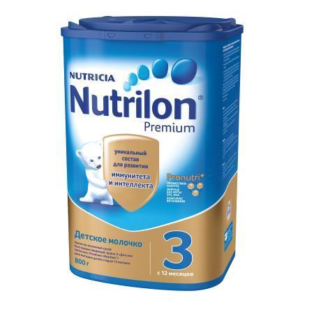 Молочко Nutrilon Premium 3 800г с 12месяцев