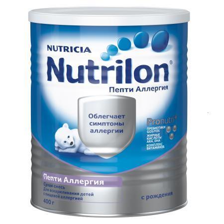 Смесь Nutrilon Пепти аллергия пребиотик 400г с 0месяцев