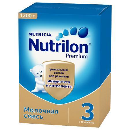 Смесь Nutricia Nutrilon Premium 3 1200г с 12месяцев