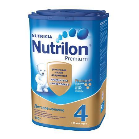 Молочко Nutrilon Premium 4 800г с 18месяцев