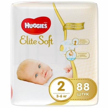 Подгузники Huggies Elite Soft 2 3-6 кг 88 шт