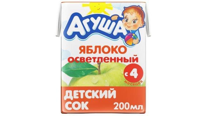 Сок [Агуша, яблоко 200 мл, 1 шт.]