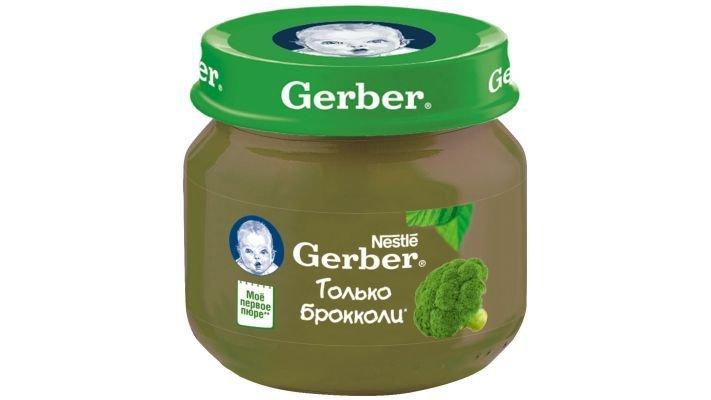 Пюре [Gerber только брокколи с 4 месяцев, 80 г, 1 шт.]