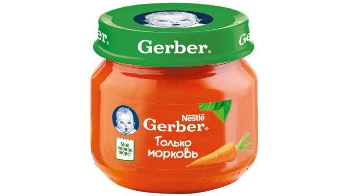 Пюре [Gerber только морковь с 4 месяцев, 80 г, 1 шт.]