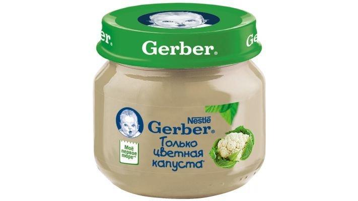 Пюре [Gerber только цветная капуста с 4 месяцев, 80 г, 1 шт.]