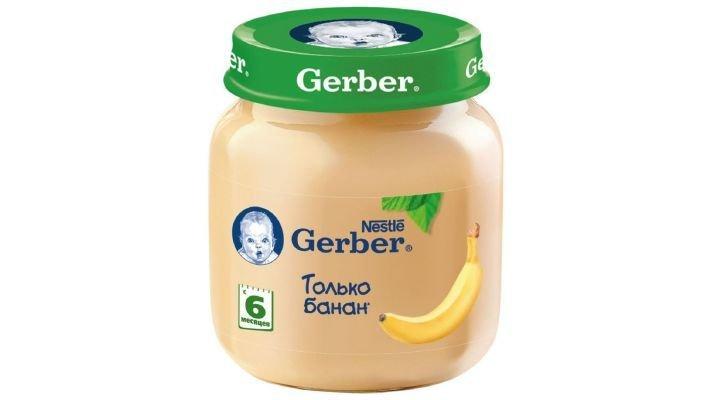 Пюре [Gerber только банан с 6 месяцев, 130 г, 1 шт.]