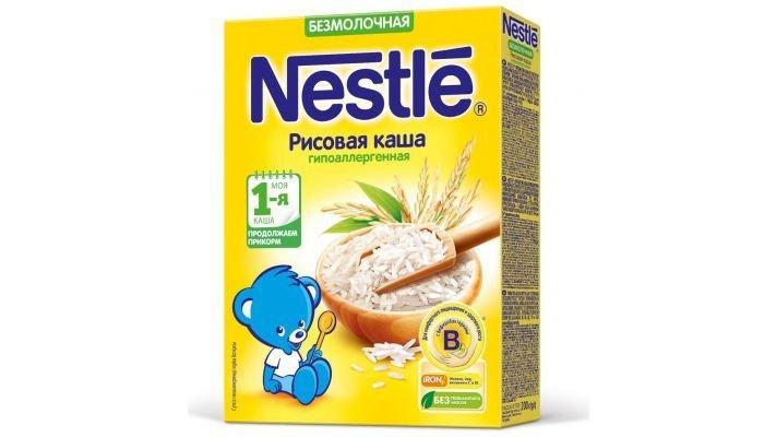 Каша [Nestle безмолочная Рисовая Моя 1-ая Каша.Начинаем прикорм]