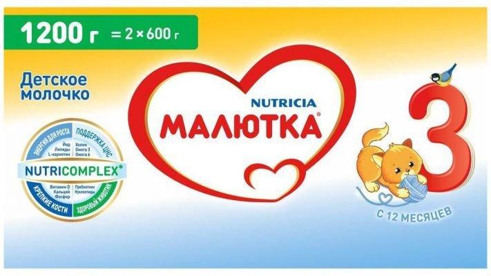 Молочная смесь [Малютка Малютка 3 с 12 месяцев, 1200 г, 1 шт.]