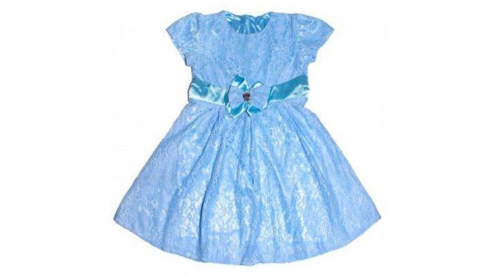 Платье [нарядное, голубое]