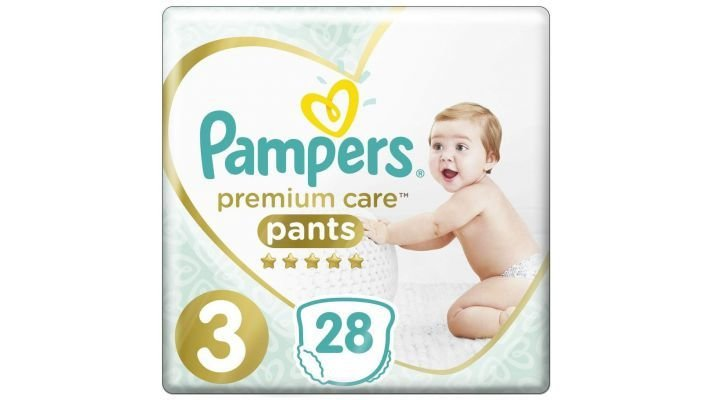 Трусики [Pampers Premium Care Pants 3 размер, 28 шт, 6-11 кг.]
