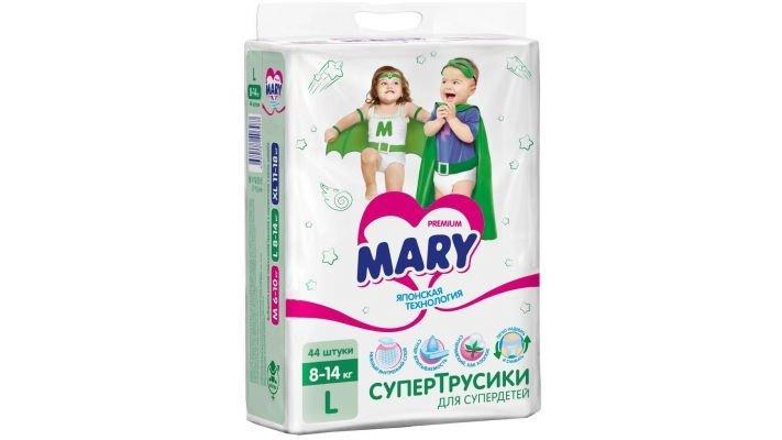 Трусики-подгузники [Mary Детские, 44 шт, 8-14 кг.]