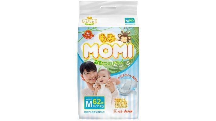 Подгузники [Momi M, 62 шт, 6-11 кг.]