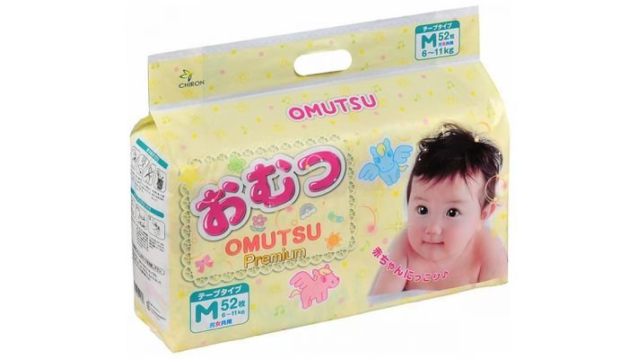 Подгузники [Omutsu M, 52 шт, 6-11 кг.]