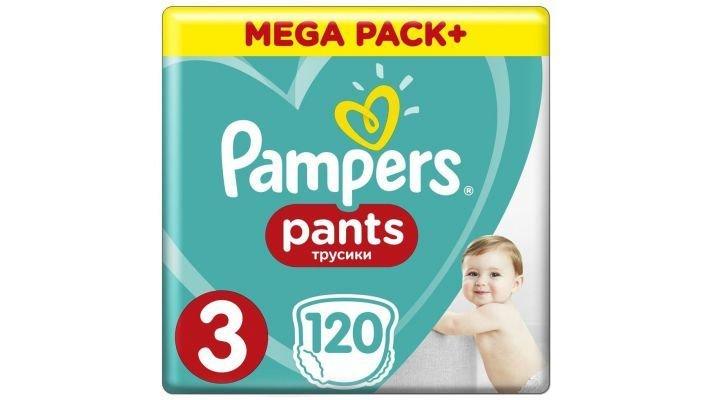 Трусики [Pampers Pants 3 размер, 120 шт, 6-11 кг.]