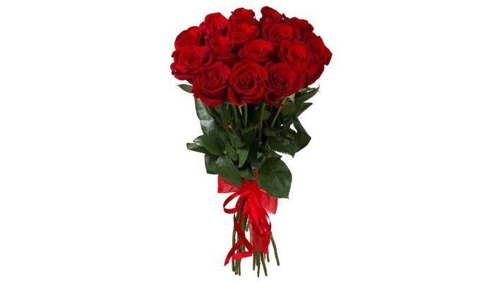 Букет [из 15 красных роз, 50 см.]