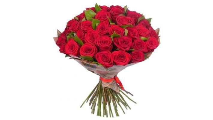 Букет [из 35 роз, 60 см.]