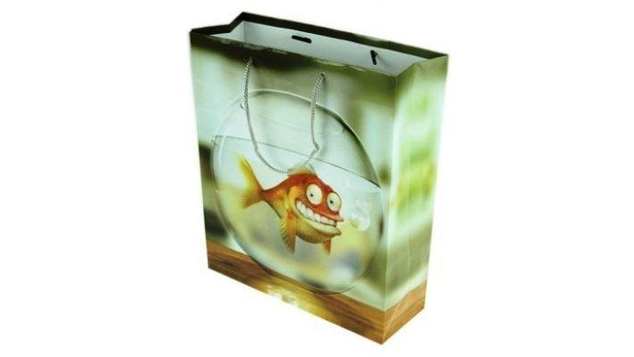"""Бумажный пакет """"Рыбка"""""""