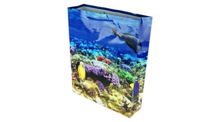 """Бумажный пакет """"Подводный мир"""""""