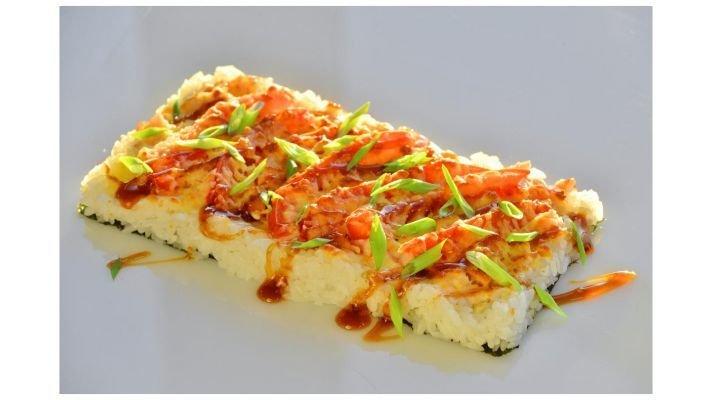 Суши пицца [с беконом]