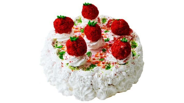 Торт [творожно-клубничный]