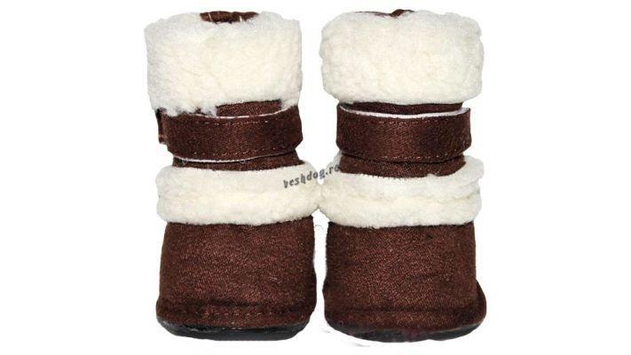 Мягкие ботинки [для собак теплые]