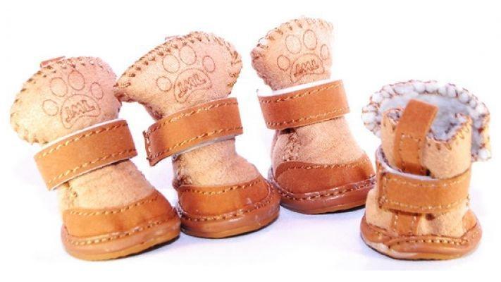 Мягкие ботиночки [для собак кофе]