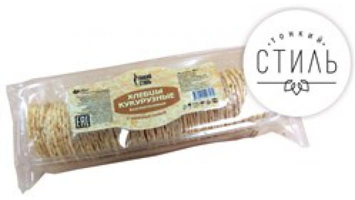 Хлебцы [кукурузные с морской солью Тонкий стиль, 60 гр.]