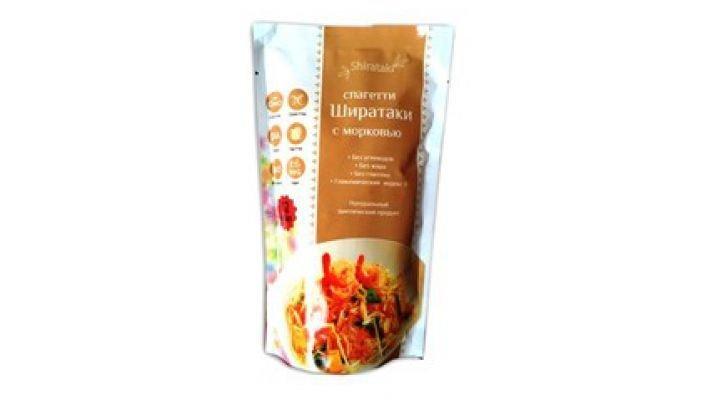 Спагетти [Ширатаки с морковью, 340 гр.]