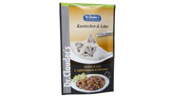Влажный корм [для кошек DR.CLAUDER'S кролик с печенью в соусе, 100 гр.]