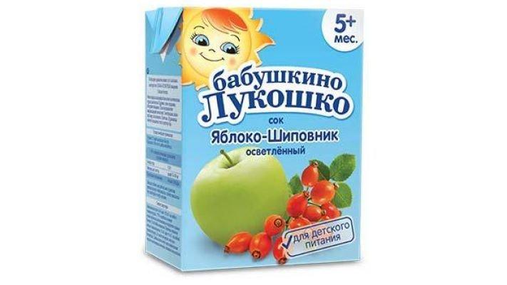 Сок [Бабушкино лукошко, яблоко-шиповник 200 мл, 1 шт.]