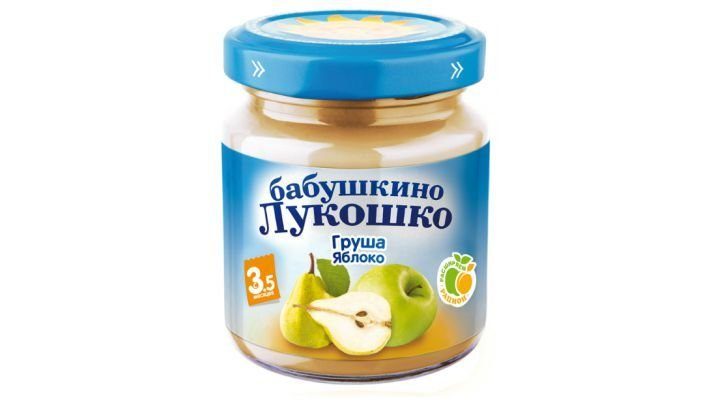 Пюре [Бабушкино лукошко в баночке яблоко-груша с 4 месяцев, 100 г, 1 шт.]