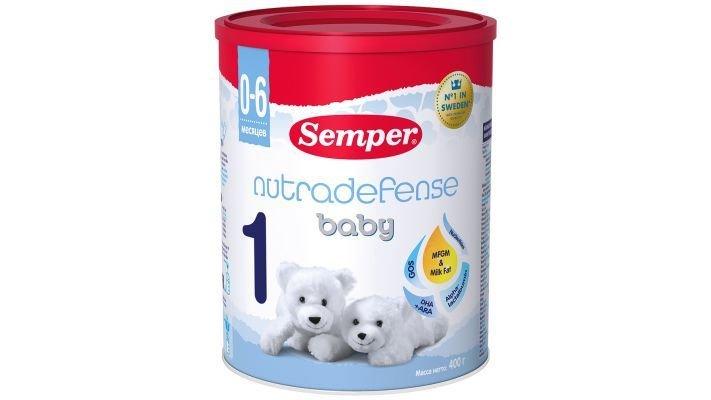 Молочная смесь [Semper Nutradefense 1 0-6 месяцев, 400 г, 1 шт.]
