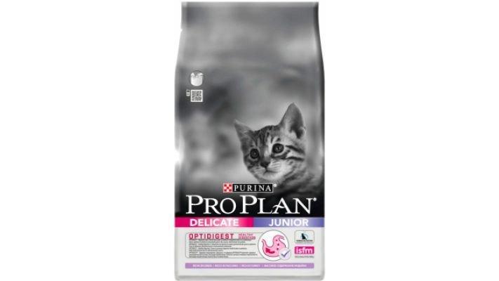 Pro Plan Junior Delicate [д/котят, индейка/рис, 400 гр.]