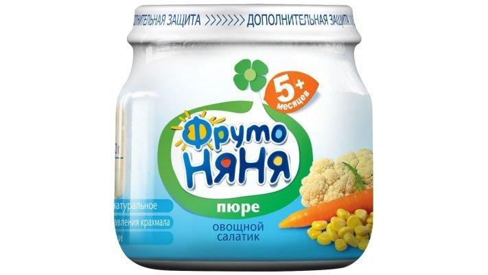 Пюре [ФрутоНяня Овощной салатик с 5 месяцев, 80 г, 1 шт.]