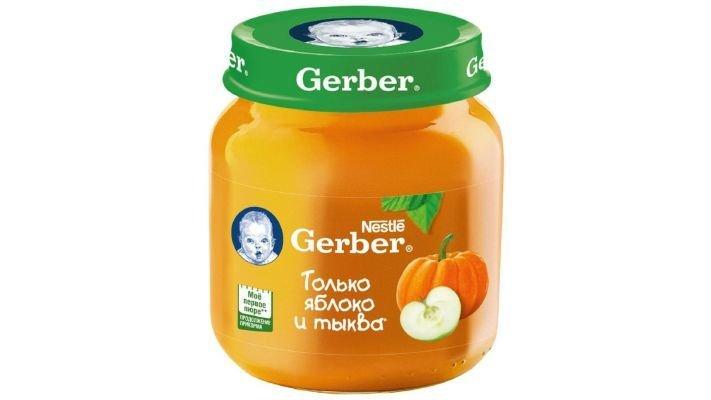 Пюре [Gerber только яблоко-тыква с 5 месяцев, 130 г, 1 шт.]