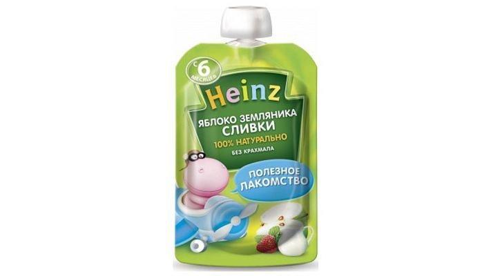 Пюре [Heinz в пауче яблоко-земляника с 6 месяцев, 90 г, 1 шт.]