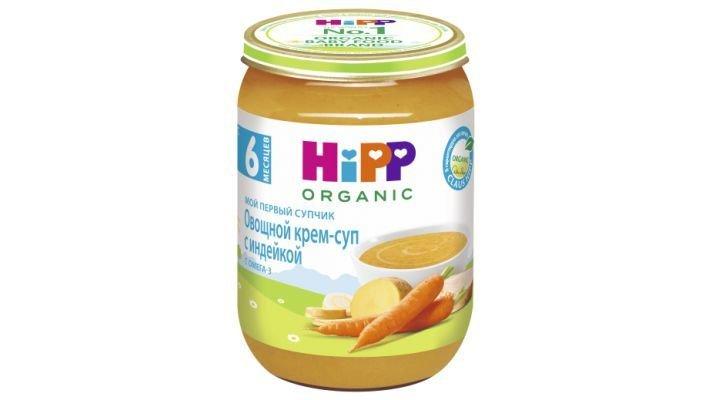 Суп [Hipp Овощной Мой первый супчик с индейкой, 1 шт, 190 г.]