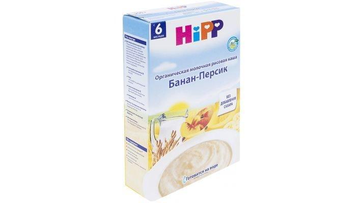 Каша [Hipp молочная Рисовая банан-персик]