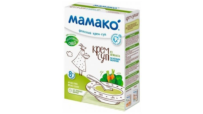 Суп-крем [Мамако На козьем молоке шпинат, 1 шт, 150 г.]