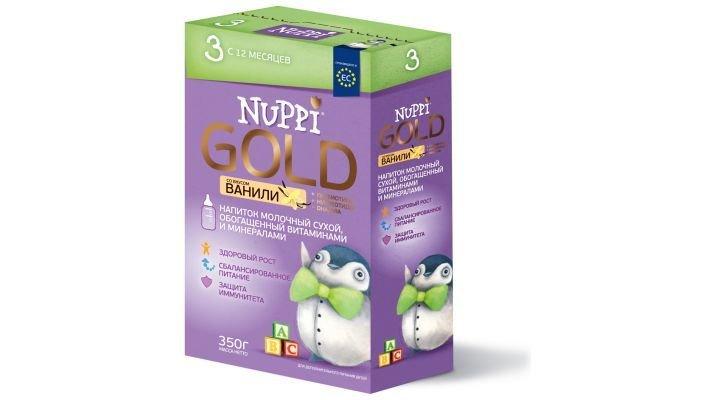 Молочная смесь [Nuppi Gold 3 с 12 месяцев, 350 г, 1 шт.]