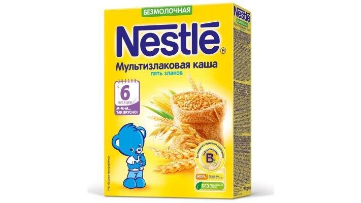 Каша [Nestle безмолочная мультизлаковая 5 злаков с 6 месяцев 200 г., 1 шт.]