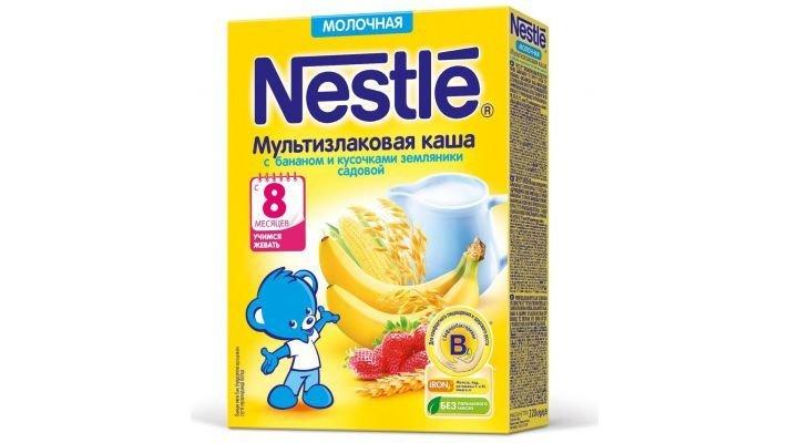 Каша [Nestle молочная Мультизлаковая банан и земляника]