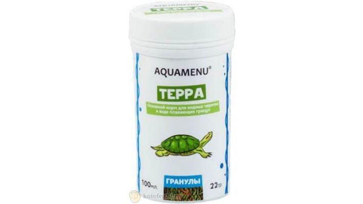 Корм [Aquamenu Терра, гранулы, 100 мл.]