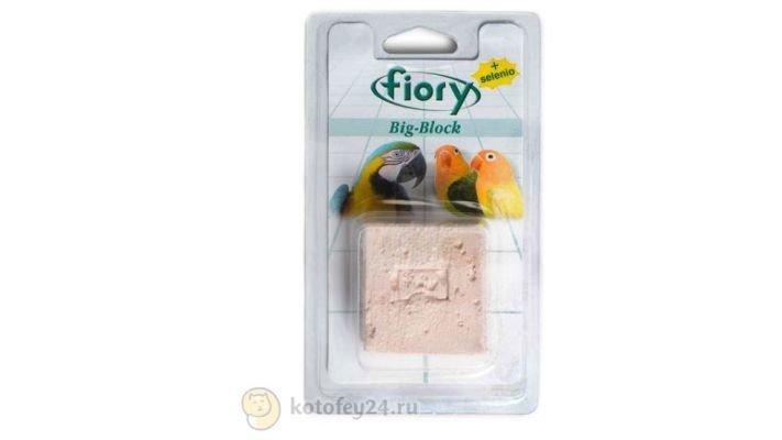 Корм [Fiory Big-Block Био-камень для птиц, 55 гр.]