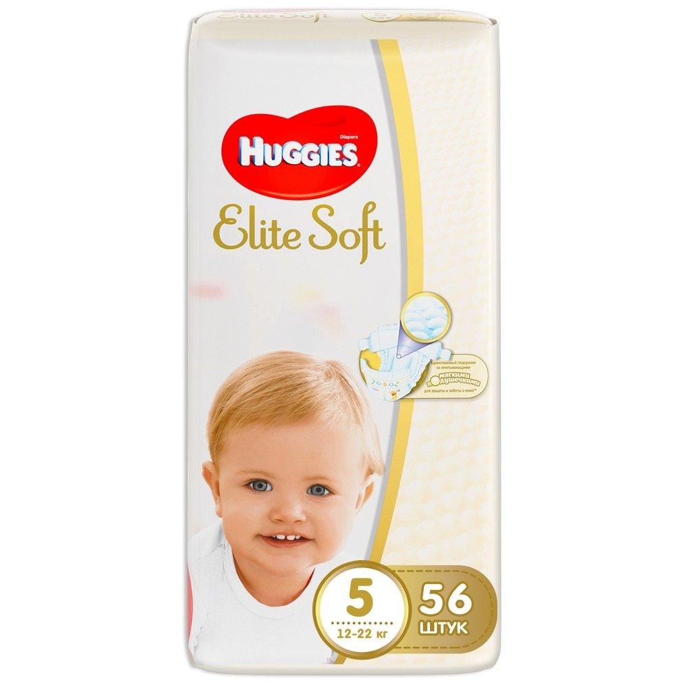 Huggies Elite Soft 5 (12-22кг) 56шт