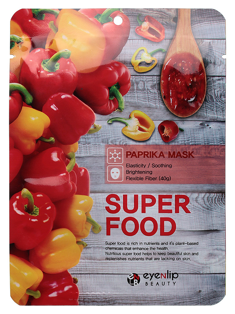 Маска Тканевая для лица EYENLIP SUPER FOOD PAPRICA 1шт.