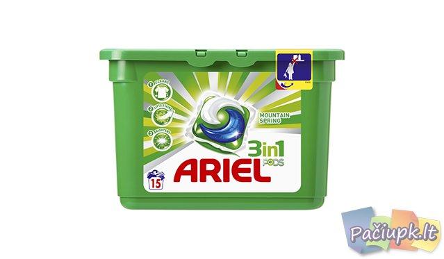 Ariel Гель в растворимых капсулах Горный родник 15шт.