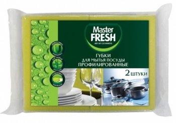 Мастер Фреш Губки для посуды профилированные 2шт.