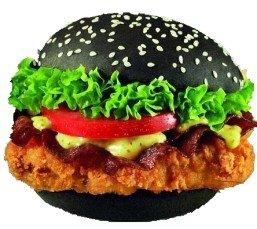 Чёрный бургер (острый, оригинальный)