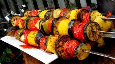 Шашлык (овощи на углях)